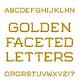 golden faceted capital letters trendy and stylish vector image