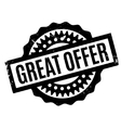 Great Offer rubber stamp vector image