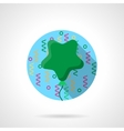 Green star balloon flat color round icon vector image vector image