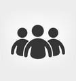group men icon work team concept vector image