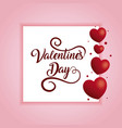 happy valentines day typography on hearts vector image vector image