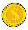 isolated money coin vector image vector image