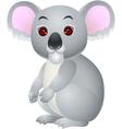 Koala cartoon sitting vector image