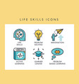 life skills icons vector image