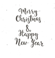 Merry Christmas and Happy New Year vintage cards vector image vector image