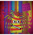 Monster on grunge background vector image vector image