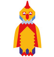 mosaic style colorful cock vector image vector image