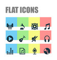music icons set collection of equalizer earmuff vector image vector image