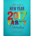 New Year 2017 party poster vector image vector image