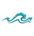ocean or sea water splashes waves and motion vector image