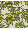 Olive branch engraving style seamless vector image vector image