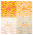 oven and brick wall vector image vector image