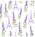 pattern with violet lavender flowers vector image