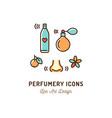 perfumery icons perfume deodorant smelling vector image vector image