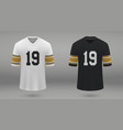 realistic american football jersey vector image vector image