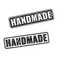 Realistic Handmade grunge rubber stamps vector image vector image