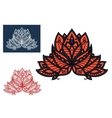 Red indian paisley flower with oriental ornament vector image vector image