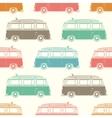Retro camper van with surfing board Seamless vector image vector image