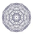 Round kaleidoscopic lace ornamental mandala vector image vector image