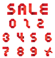 Sale Text and Numbers Set Origami Style vector image vector image