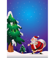 Santa Claus poster blue vector image vector image