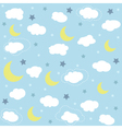 Seamless baby pattern wallpaper vector image vector image