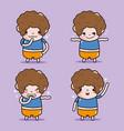 set boy emoticon character faces message vector image vector image