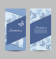 set horizontal banners with butterflies vector image