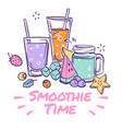 smoothie background detox drink summer cocktail vector image vector image