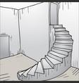 stair cartoon vector image