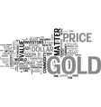 why should i invest in gold text word cloud vector image vector image