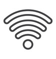wifi line icon web and mobile internet sign vector image vector image