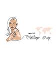 world vitiligo day banner poster vector image vector image