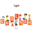 Children With English Alphabets vector image