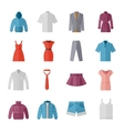 Fashion and clothes flat icons vector image