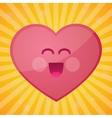 funny cartoon heart happy valentines day vector image