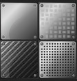 4 metal plates vector image