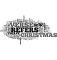a christmas history lesson text word cloud concept vector image