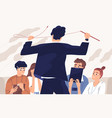 angry boss irate teacher flat vector image