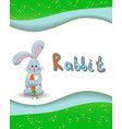 Animal alphabet letter R and rabbit vector image