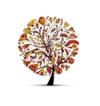 Art tree autumn season concept for your design vector image vector image