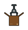 assembly line industrial machine icon image vector image