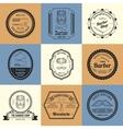 Barber Shop Logos vector image vector image