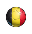 belgian flag football - soccer ball vector image