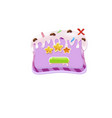 cake background for game button vector image