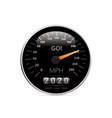 calendar 2020 in speedometer car vector image vector image