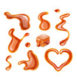 caramel drops collection vector image vector image