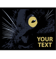 cat on a black background vector image vector image