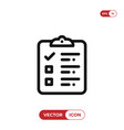 checklist icon vector image vector image