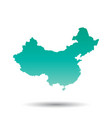 china map flat on white background vector image vector image